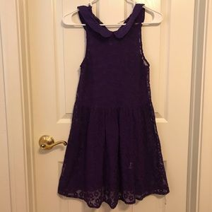 Free People Purple Floral Lace Dress
